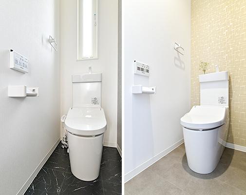 テクノホームヤマト 施工実績 1Fと2Fのトイレ