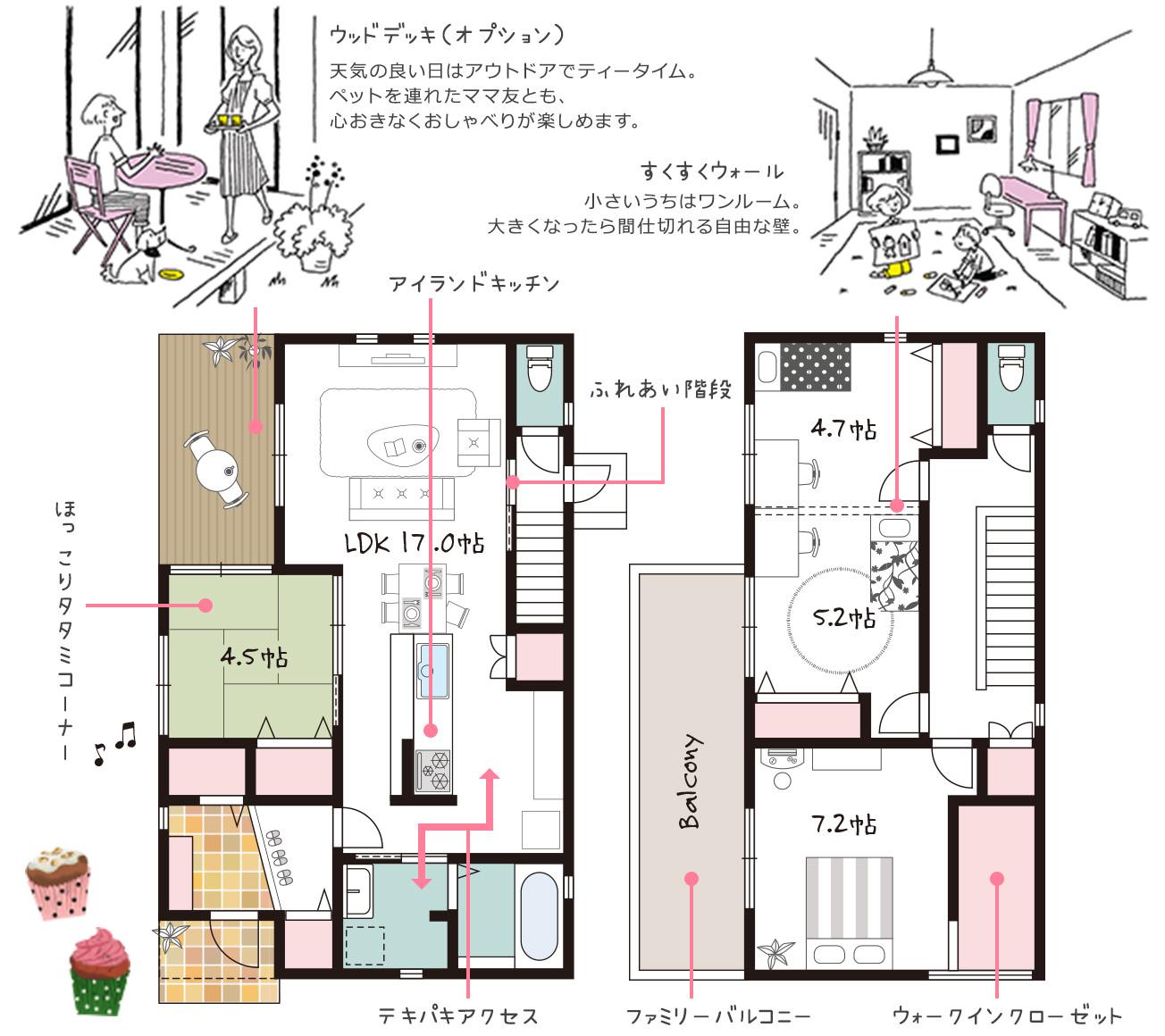 新企画型住宅「YAMATO casa STYLE」 Style03参考間取り図