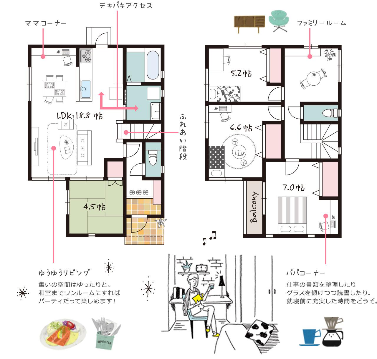 新企画型住宅「YAMATO casa STYLE」 Style04参考間取り図