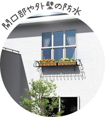 開口部や外壁の防水